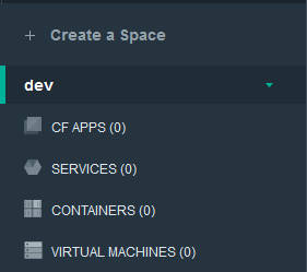 IBM Bluemix create space