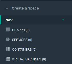 IBM Bluemix create space