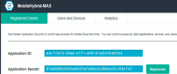 Bluemix Mobile Application Security Services