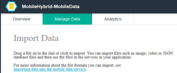 Bluemix Mobile Data Services