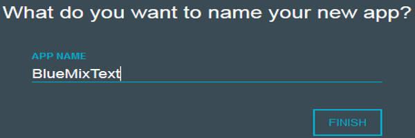 Name Bluemix App
