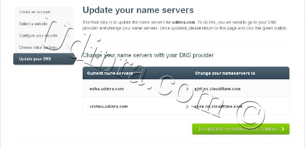 cloudflare-update-name-servers