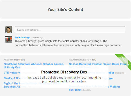 make money with Disqus Discovery
