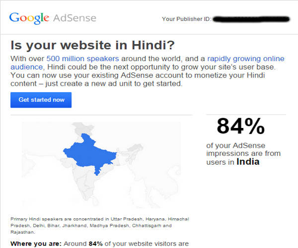 Google Adsense Hindi blogs
