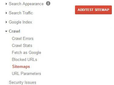 google-webmaster-sitemap-option
