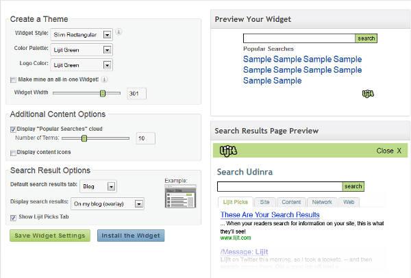 Lijit Search Widget