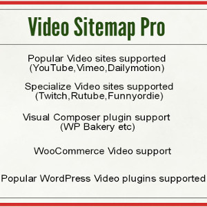 Udinra Video Sitemap Pro
