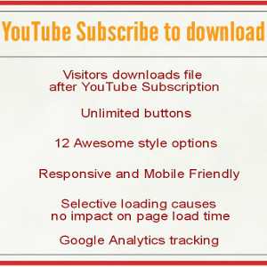 YouTube Subscribe to download Pro