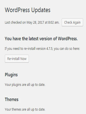 wordpress-dashboard-update-menu-option