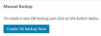 wordpress-manual-database-backup