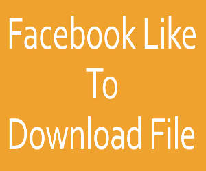 Facebook Like to download file
